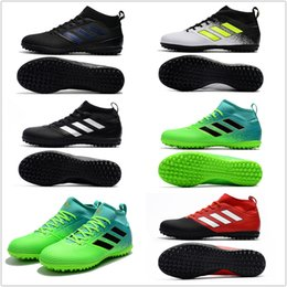 Wholesale Mens High Lace Boots - 2017 adidas ACE 17.3 Primemesh TF cheap indoor soccer shoes football boots high top mens soccer cleats Free shipping