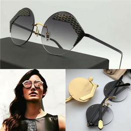 Wholesale Best Style For Men - The new best-selling fashion brand designer sunglasses frameless irregular frame HD anti-UV lens Special design summer style for women 6089