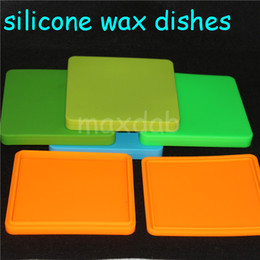 Wholesale Toy Water Piping - 200ml Wax Containers Silicone Box Silicone Square Container Big Wax Jars Dishes Mats Dab Dabber Tool Large Jar Vaping silicone water pipe
