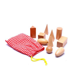 Wholesale Wooden Blocks New - Wholesale- 2016 New Arrival Math Toys Montessori Math Juguetes Geometry Blocks Wooden Learning Education High Quality