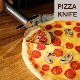 cuchillos de cocina de mango blanco Rebajas Cortador de Pizza de Acero Inoxidable Diámetro 7 CM cuchillo Pizzas Herramientas Accesorio de Cocina Ruedas de Pizza Herramientas de Cocina