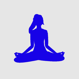 Wholesale Car Yoga - Handicrafts Vinyl Decals Car Stickers Window Stickers Scratches Stickers Wall Die Cut Bumper Accessories Jdm Yoga Fitness Workout Meditation