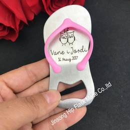 Wholesale Personalized Birthday Gifts - 50 pcs Personalized pink or blue bottle opener of Guest gift of wedding favors and gifts Birthday gift