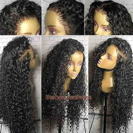 Wholesale brazilian loose wave lace wig - 360 lace frontal wig Peruvian virgin hair 360 Full Lace Wig pre plucked With baby hair bleached knots Deep curly