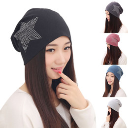 65a84ce15b3ac New Autumn Fashion New Knit Baggy Beanie Hat with Star Female Warm Winter  Hats for Girls Women Beanies Bonnet Head Cap DM 6 discount knit black hat  red star
