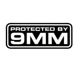 Wholesale Security Products Alarm - New Product For Protected By 9mm Security Decal Vinyl Car Styling Sticker Jdm Car Alarm Surveillance Accessories Decorate