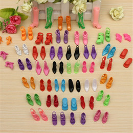 Wholesale Baby Girl Shoes Pair - Wholesale 40 Pairs 80pcs Doll Shoes Fashion Cute Colorful Assorted shoes for Barbie Doll with Different styles Baby Toy