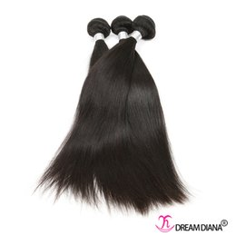 Wholesale Indian Virgin Straight 3pcs - Brazilian Straight Hair Human Hair Weave Bundles 3Pcs  Lot Brazilian Peruvian Virgin Human Hair Natural Color Dyeable Great Quality