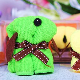 Wholesale Towel Favor For Wedding - Wholesale- Home Party Gift Favors Creative Cute Dog Shape Towels For Baby Shower Christening Gift Party Wedding Favour