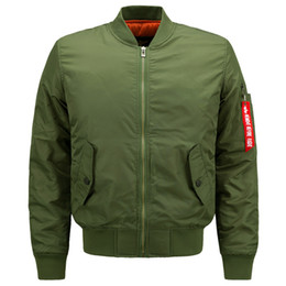 Wholesale Mens Winter Bomber Jackets - Mens Autumn Jackets Winter Parkas Bomber Pilot Jackets Outwear Coats Male Outdoor Overcoat Air Force Flight Clothes 5XL 6XL Large Size