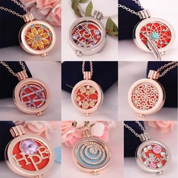 Wholesale Vintage Angles - Aromatherapy Jewelry Necklace Vintage DIY Coins Angle Wing Locket Pendant Essential Oil Diffuser Necklace Mix 9 styles for choose