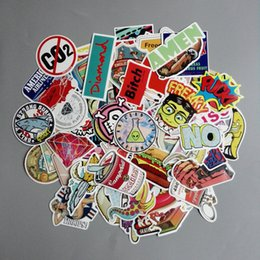 Wholesale Vintage Decals - Stickers Skateboard Snowboard Vintage Vinyl Sticker Graffiti Laptop Luggage Car Bike Bicycle Phone Pad Decals mix Lot Fashion Cool Stickers
