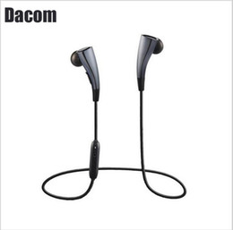 Wholesale G11 New - New DACOM G11 Dacom Bluetooth 4.1 Headset Wireless Earpiece Casque Bluetooth Sport Magnet Earphones Original IPX3 Headset With Mic