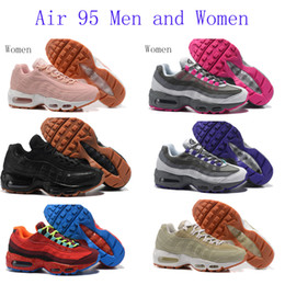 Wholesale Sport Comfort Sneakers - 2017 New Mens sports 95 Running Shoes,Comfort Fashion mens athletic Walking training sporting shoes sneakers Classic Air Cush size 36-46