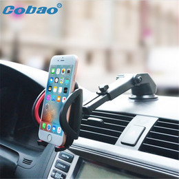 Wholesale S Mp3 - Mobile Phone Car Windshield Universal Holder for iPhone 7 7 S 6 6s 5S 5C 5G 4S Samsung iPod GPS for iPhone Stand