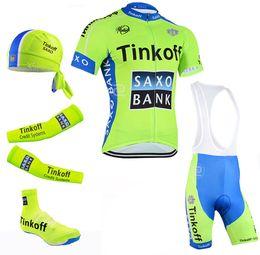 Wholesale Cycling Jersey Shorts Warmers - Saxo bank tinkoff Pro team cycling jersey Ropa ciclismo cycling clothing cycling arm warmer maillot ciclismo bicicleta bicycle leg warmer