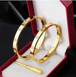 Canada Vente chaude 2018 Nouveau style argent rose 18 k or 316 L en acier inoxydable bracelet bracelet avec tournevis d'origine boîte vis jamais perdre cheap tibet style bracelets Offre