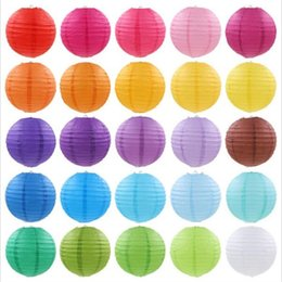 Wholesale round paper lantern lamps - Mulit color option 6'' (15cm) Chinese paper lantern round lamp Wedding Decor glim festival decoration Lampion party scaldfish