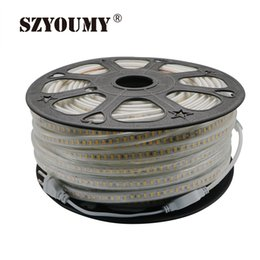 Wholesale Ip66 Led Strip Light - Wholesale-120leds m 220V SMD 5630 LED strip white   warm white dimmable flexible tape light 10m waterproof IP66+ power supply
