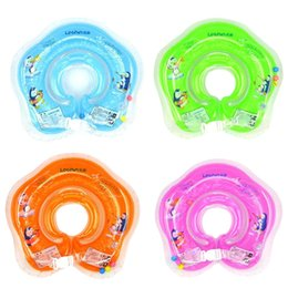 Wholesale Swimming Baby Rings - Hot! New Baby Inflatable Swimming Neck Float Inflatable Tube Ring Safety Child Toys 0-2 Years Babies Swim Ring 2017