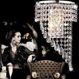 Wholesale Crystal Curtain Wall - Modern luxury K9 crystal LED curtain wall, light curtain wave, LED bulb, crystal E14, hotel lamp LLFA