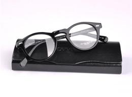 Wholesale Eyeglass Cases Black - Vintage Optical Glasses Frame Oliver Peoples 5186 Brand Designer Plank Frame Eyeglasses Frames for Women Men Round Myopia Frames with Case