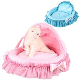 Wholesale Princess House Pets - Princess Prince Soft Pet Dog Cat Bed House Sofa Mat Cushion Kennel With Ribbon Bow