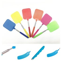 Wholesale Mosquito Fly Swatter - High Quality Creative Great Useful Handheld Flexible household Mosquito swatter Racket Portable Plastic Fly Swatter Mosquito racket IA581