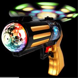 Wholesale Wholesale Light Gun - New children's toy pistol electric magic toy gun gun vibration light glare projection children very beautiful gift light boy toy wholesale