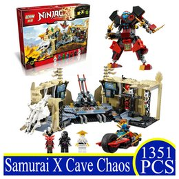 Wholesale Educational Toys Block Ninja - LEPIN 06039 1351Pcs Ninja Series Samurai X Cave Chaos Building Bricks Blocks Educational Nya Lloyd Pythor Children Gifts 70596