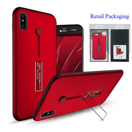 Wholesale Chinese Finger Rings - For iPhone X Rubber Finger Holder Armor Case Metal Kickstand Portable Ring Cover for iPhone 8 7 Samsung Note8 S8 With Retail Packaging
