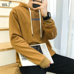Wholesale Wholesale High Collar Hoodies - Wholesale- BDLJ 2017 Stylish Men Famous Brand hoodie High Quality Casual Sweatshirt Men Long Sleeve Clothing Personal Custom Pullover