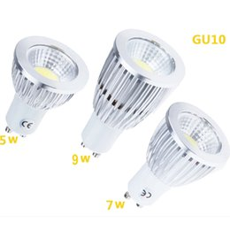 Wholesale E27 Led High Power Spotlight - Led COB Bulbs 5W 7W 9W E27 GU10 GU5.3 110-240V MR16 12V LED Spot light lamp High Power bulb lamps