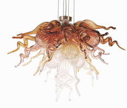 copper kitchen lighting Promo Codes - New Design Mini Faded Copper Living Dining Study Room Pendant Chandelier Inspired 100% Hand Blown Glass Chandelier and Pendant Lamp