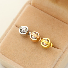 Wholesale crystal earrings single - Korean version of the new super flash bar single female fashion all-match drill Earrings titanium 3A Zircon Earrings Jewelry Earrings