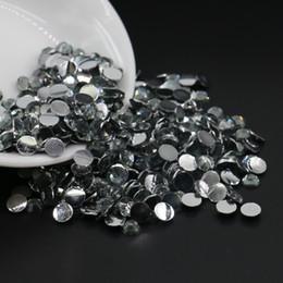 Wholesale Glue Size - Non hotfix glue on resin half round beads , nail arts diy rhinesone, Black Diamond Resin Flatback Rhinestone All Size 3mm,4mm,5mm,6mm