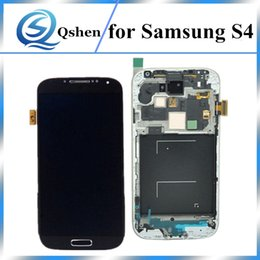 Wholesale S4 Panel - High Copy A+++ Grade LCD For Samsung Galaxy S4 LCD Display Screen Digitizer Assembly Replacement With Frame 100% Tests
