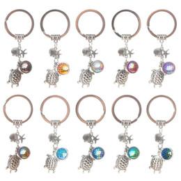 Wholesale Starfish Keyring - Fashion Drusy Druzy keychain Tortoise Shell Starfish Mermaid Key Rings Fish Scale Charms Keychain Car Keyring Jewelry For women Men