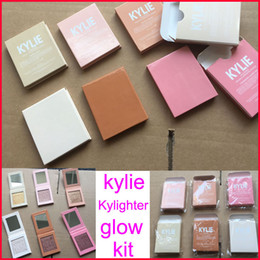 Wholesale Strawberry Candy - In stock Kylie Highlighter Cosmetics Kylighter banana split Strawberry Shortcake Candy Cream French Vanilla Cotton Candy 6colors DHLshipping