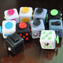 Wholesale Variety Toys Wholesale - In stock 50pcs Magic Fidget Cube Decompression Toy variety designs Popular Anxiety Toys Adults Stress Relief Kids Toy With Retail Box 10pcs