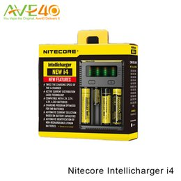 Wholesale Nitecore Aa - Nitecore Intellicharger NEW i4 Charger Universal Vaping Charger Compatible with 18650 26650 16340 10440 AA AAA Battery 100% Original