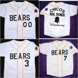 Wholesale Embroidery Collection - Men's Custom Any Number Bad news BEARS Movie Jersey Button Down Throwback Stitched Embroidery Logos Baseball Jerseys Authentic Collection