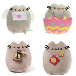 "Wholesale Stuffed Animal Farm - Hot Sale 4 Style 6"" 15cm   9"" 23cm Pusheen Sushi Angel eggshell Potato Chips Cat Plush Doll Stuffed Animals Christmas Toys"