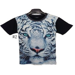 Wholesale Men Spring Cool Wear - 3D Hot Short Sleeved T-Shirt Spring And Summer Cool Lover T-Shirt Cotton Men's Wear Printing Tiger Polyester Short Sleeved T-Shirt