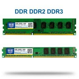 Wholesale Memory Ram Ddr3 2gb Desktop - Xiede DDR 1 2 3 DDR1 DDR2 DDR3   PC1 PC2 PC3 512MB 1GB 2GB 4GB 8GB 16GB Computer Desktop PC RAM Memory 1600MHz 800MHz 400MHz