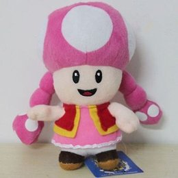 Wholesale Mario Plush Toadette - Wholesale-New Super Mario Plush Toadette Soft Toy baby kids gift Size: 7in  17.5cm