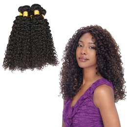 Wholesale Curly One Piece Remy Extensions - Malaysian Kinky Curly Hair Natural Color Weave One Piece Remy Hair Extensions 100% Human Hair Bundles