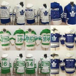 2019 billige authentische nhl hockey trikots Toronto Maple Leafs Hoodies Jersey Herren 16 Mitchell Marner 29 William Nylander 34 Auston Matthews 100% genäht Sweatshirt Hockey Trikots