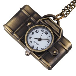 Wholesale Vintage Style Sweaters New - Wholesale- Vintage Cartoon Camera Shape Sweater Chain Pocket Watch Pendant Necklace Korean Style New Arrivals