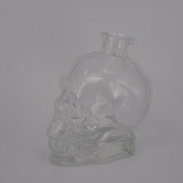 Wholesale Glasses For Sale Cheap - Skull 750ml glass bottles with cork for vodka wine cheap crystal skull head Whisky transparent skull bottle hotting sale
